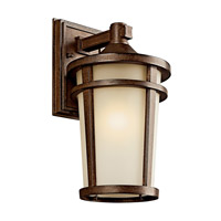 Kichler 49072BSTFL Atwood 1 Light 14 inch Brown Stone Fluorescent Outdoor Wall Lantern
