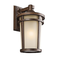Kichler 49073BST Atwood 1 Light 18 inch Brown Stone Outdoor Wall Lantern