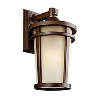 Kichler 49073BSTFL Atwood 1 Light 18 inch Brown Stone Fluorescent Outdoor Wall Lantern