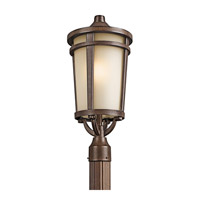 Kichler 49074BST Atwood 1 Light 22 inch Brown Stone Outdoor Post Lantern in Standard