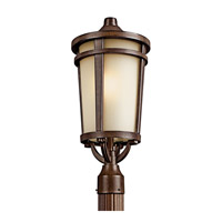 Kichler 49074BSTFL Atwood 1 Light 22 inch Brown Stone Fluorescent Outdoor Post