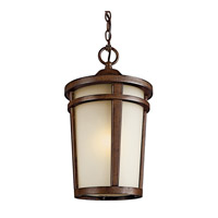 Kichler Lighting Atwood 1 Light Fluorescent Outdoor Ceiling in Brown Stone 49075BSTFL