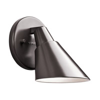 Kichler Beach Light 1 Light Outdoor Wall - Small in Architectural Bronze 49081AZ