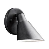 Kichler Beach Light 1 Light Outdoor Wall - Small in Black (Painted) 49081BK