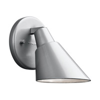 Kichler Beach Light 1 Light Outdoor Wall - Small in Platinum 49081PL