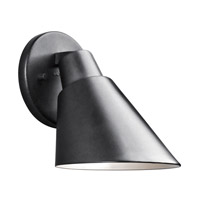 Kichler Beach Light 1 Light Outdoor Wall - Small in Black 49082BK