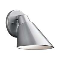 Kichler Beach Light 1 Light Outdoor Wall - Small in Platinum 49082PL