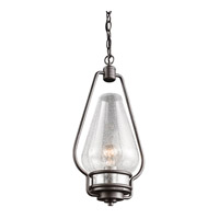Kichler Hanford 1 Light Outdoor Hanging Pendant in Anvil Iron 49094AVI