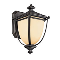 Kichler Lighting Warner Park 1 Light Fluorescent Outdoor Wall Lantern in Rubbed Bronze 49100RZFL photo thumbnail