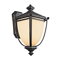 Kichler Lighting Warner Park 1 Light Fluorescent Outdoor Wall Lantern in Rubbed Bronze 49101RZFL photo thumbnail