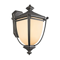 Kichler Lighting Warner Park 1 Light Outdoor Wall Lantern in Rubbed Bronze 49102RZ photo thumbnail