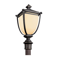 Kichler Lighting Warner Park 1 Light Fluorescent Outdoor Post in Rubbed Bronze 49104RZFL