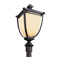 Kichler Lighting Warner Park 1 Light Fluorescent Outdoor Post in Rubbed Bronze 49105RZFL