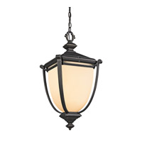Kichler Lighting Warner Park 1 Light Outdoor Pendant in Rubbed Bronze 49106RZ