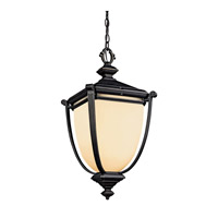 Kichler Lighting Warner Park 1 Light Fluorescent Outdoor Ceiling in Rubbed Bronze 49106RZFL