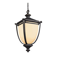 Kichler Lighting Warner Park 1 Light Fluorescent Outdoor Ceiling in Rubbed Bronze 49107RZFL photo thumbnail