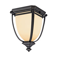 Kichler Lighting Warner Park 2 Light Fluorescent Outdoor Ceiling in Rubbed Bronze 49108RZFL photo thumbnail