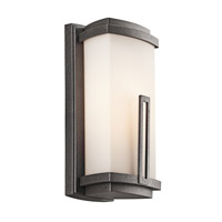 Kichler 49110AVI Leeds 1 Light 12 inch Anvil Iron Outdoor Wall Lantern in Standard photo thumbnail