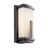 Kichler 49110AVIFL Leeds 1 Light 12 inch Anvil Iron Fluorescent Outdoor Wall Lantern photo thumbnail