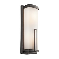 Kichler Lighting Leeds 2 Light Outdoor Wall Lantern in Anvil Iron 49111AVI photo thumbnail
