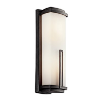 Kichler Lighting Leeds 2 Light Fluorescent Outdoor Wall Lantern in Anvil Iron 49111AVIFL