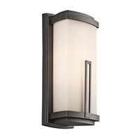 Kichler Lighting Leeds 1 Light Outdoor Wall Lantern in Anvil Iron 49112AVI photo thumbnail