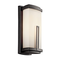Kichler Lighting Leeds 1 Light Fluorescent Outdoor Wall Lantern in Anvil Iron 49112AVIFL photo thumbnail