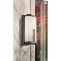 Kichler Lighting Leeds 2 Light Outdoor Wall Lantern in Anvil Iron 49113AVI alternative photo thumbnail
