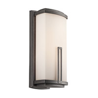Kichler Lighting Leeds 2 Light Outdoor Wall Lantern in Anvil Iron 49113AVI thumb