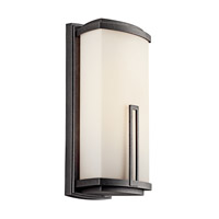 Kichler Lighting Leeds 2 Light Fluorescent Outdoor Wall Lantern in Anvil Iron 49113AVIFL