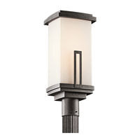 Kichler Lighting Leeds 1 Light Outdoor Post Lantern in Anvil Iron 49114AVI