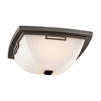 Kichler Lighting Leeds 2 Light Outdoor Flush Mount in Anvil Iron 49116AVI