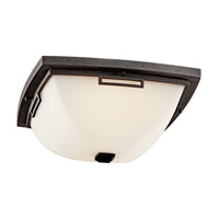Kichler Lighting Leeds 2 Light Fluorescent Outdoor Ceiling in Anvil Iron 49116AVIFL