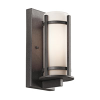 Camden 1 Light 11 inch Anvil Iron Outdoor Wall Lantern in Standard