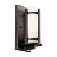 Kichler 49119AVIFL Camden 1 Light 11 inch Anvil Iron Fluorescent Outdoor Wall Lantern