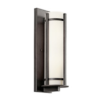 Kichler Lighting Camden 2 Light Fluorescent Outdoor Wall Lantern in Anvil Iron 49120AVIFL