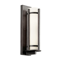 Kichler 49122AVIFL Camden 3 Light 26 inch Anvil Iron Fluorescent Outdoor Wall Lantern