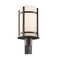 Kichler Lighting Camden 1 Light Outdoor Post Lantern in Anvil Iron 49123AVI