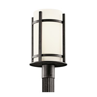 Kichler Lighting Camden 1 Light Fluorescent Outdoor Post in Anvil Iron 49123AVIFL