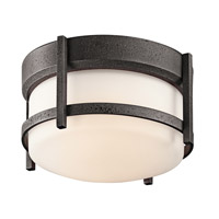 Kichler 49125AVI Camden 1 Light 10 inch Anvil Iron Outdoor Flush Mount in Standard