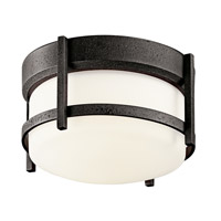 Kichler Lighting Camden 1 Light Fluorescent Outdoor Ceiling in Anvil Iron 49125AVIFL
