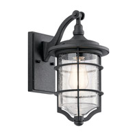 Royal Marine 1 Light 13 inch Distressed Black Outdoor Wall Light, Small
