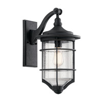 Kichler 49127DBK Royal Marine 1 Light 18 inch Distressed Black Outdoor Wall Light, Medium