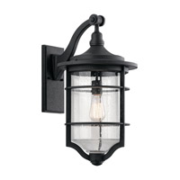 Royal Marine 1 Light 22 inch Distressed Black Outdoor Wall Light, Large