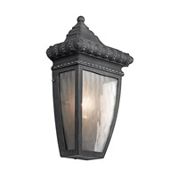 Venetian Rain 1 Light 12 inch Black W/Gold Outdoor Wall Lantern