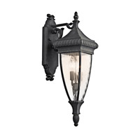 Venetian Rain 2 Light 25 inch Black W/Gold Outdoor Wall Lantern