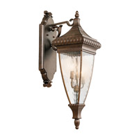 Venetian Rain 3 Light 31 inch Bronze Outdoor Wall Lantern