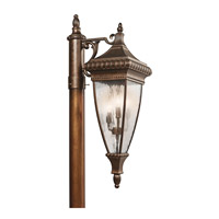 Kichler 49133BRZ Venetian Rain 3 Light 33 inch Bronze Outdoor Post Lantern