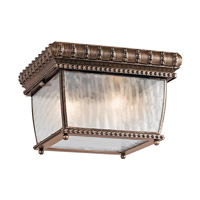 Kichler Lighting Venetian Rain 2 Light Outdoor Flush Mount in Bronze 49136BRZ