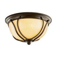 Kichler Lighting Pasadena 2 Light Fluorescent Outdoor Ceiling in Olde Bronze 49144OZFL